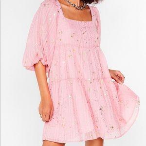 NWT Nasty Gal Star Light Tiered Mini Dress